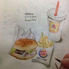 ha_ss 141117 #ほぼ日手帳 #hobonichi #イラスト #illust #風邪気味 #burgerking | Use Instagram online! Websta is the Best Instagram Web Viewer!