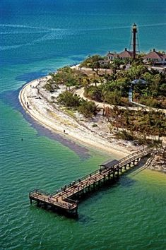 Sanibel Lighthouse Aerial picture in Sanibel Island near Fort Myers Beach Florida