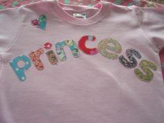 princesses and pirates Applique Letters, Hand Applique, Personalized Tee Shirts, Cream Tees, Applique Designs, Princesses, Pirates, Fabric, Tejido