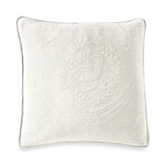 King Charles Matelasse 20-Inch Square Pillow in White - BedBathandBeyond.com