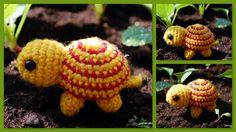 Tiny Striped Turtle Amigurumi crochet - free pattern: http://www.ravelry.com/patterns/library/tiny-striped-turtle