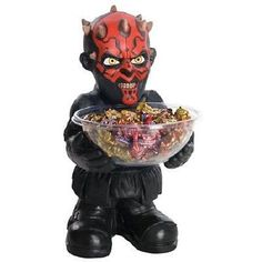 DARTH-MAUL-CANDY-DISH-BLACK STAR-WARS-PARTY-DECORATION-FOOD-SERVER-COLLECTIBLE