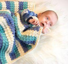 Hæklet Baby /Barnevognstæppe - Tante tråd