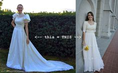 1980's wedding dress transformed into a modern vintage-esque gown! SO CLEVER.