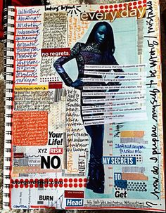 artjournaling:  Chapter 03 Accidents and Imperfections // life feels like misspoken affirmations (by stargardener)