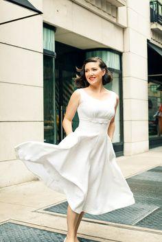 GPOYW Lunching at Barney's Dress: vintage, $40, NYC flea market.. big score.