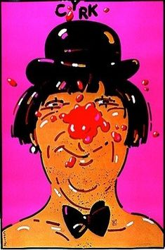 Clown with derby & bow tie (1977) by Waldemar Swierzy