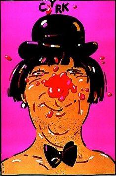 Clown with derby & bow tie (1977) by Waldemar Swierzy