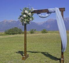 Rugged Horizon Wedding Arch