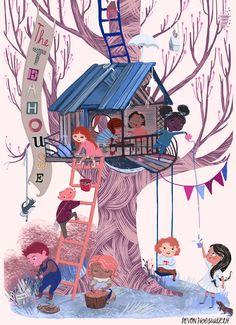 Devon Holzwarth on Behance Kid Character, Character Design, Devon, Children's Book Illustration, Illustration Children, Book Illustrations, Childrens Books, Illustrators, Art For Kids