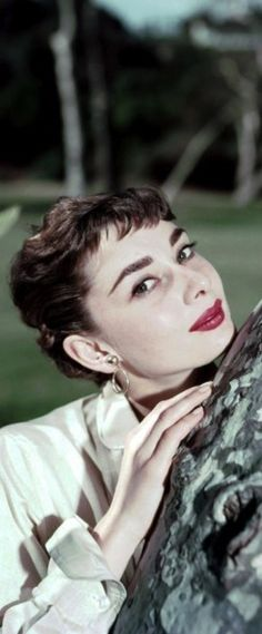 Audrey Hepburn Why does his new girl have to resemble this old Hollywood beauty? How am I supposed to compete with that?