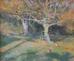 Maple in Autumn - Oil 10x12.David Curtis