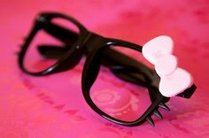 "Hello Kitty Glasses. Worn by SISTAR's Hyorin in the ""Lovin' U"" music video."