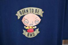 "Family Guy Stewie ""Born to Be Bad"" Size XXL 2XL Navy Blue T-Shirt #ebay #deals"