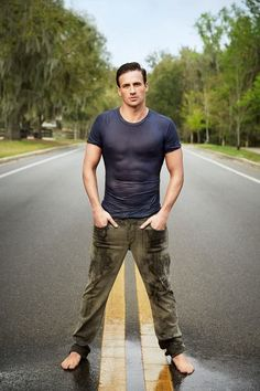 Ryan Lochte....this guy is not very bright, but super easy on the eyes