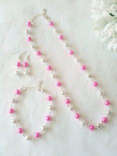 Hot Pink Jewelry Set Hot Pink Jewelry Pink Bridesmaid