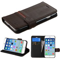 Apple iPhone 6 Book-Style MyJacket Wallet Case - Brown 352