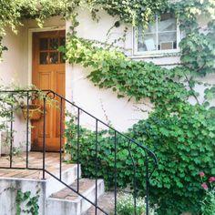 cotoriさんの、玄関/入り口,ナチュラル,植物,玄関,ガーデン,かご,漆喰壁,アイアン,アイアンフェンス,暮らし,のお部屋写真