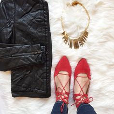 Ruby lace up flats.