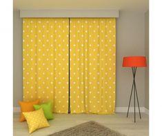 Main Thumb Teak, Polka Dots, Curtains, Yellow, Decor Ideas, Home Decor, Blinds, Decoration Home, Room Decor