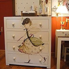 Pinned using PinFace! Painted Chairs, Hand Painted Furniture, Funky Furniture, Furniture Styles, Repurposed Furniture, Furniture Projects, Kids Furniture, Furniture Makeover, Woodworking Furniture