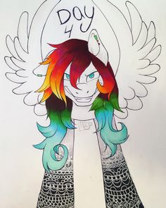 So I colored day 4 because I thought it looked pretty cool! (by Laurel Bresser) Pretty Cool, How To Look Pretty, Art Rules, No Drama, We Are Family, Drawing Board, Art Boards, Things To Think About, Pony