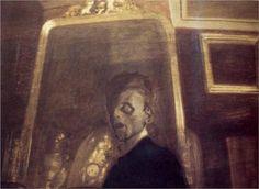 Self-Portrait in Mirror - Leon Spilliaert