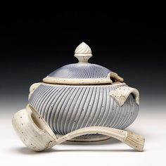 Mark Williams  Description:thrown, handbuilt and constructed stoneware with slip and glazeDimensions:8.75x10.25x10.25