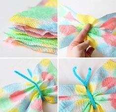 Coloridas mariposas de papel