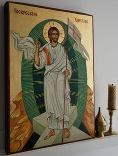 Resurrection of Jesus Christ About our icons BlessedMart offers hand-painted religious icons that follow the Russian, Greek, Byzantine and Roman Catholic traditions. We partner with some of the most experienced iconographers in the country. Artists with more than 20 years of experience in modern iconography. Each and every icon that we sell in our online store is