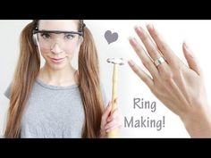 HOW TO MAKE A HAMMERED STERLING SILVER RING + GIVEAWAY (closed) - YouTube