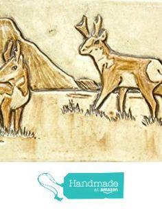 Handmade Pronghorn Ceramic Tile from Fire Creek Clay http://www.amazon.com/dp/B01BHIUB7U/ref=hnd_sw_r_pi_dp_jJcTwb1G1HA91 #handmadeatamazon
