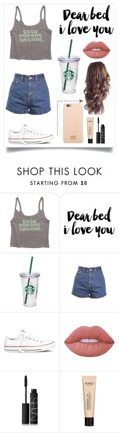 """""""Untitled #259"""" by rhiannonpsayer ❤ liked on Polyvore featuring Billabong, WALL, Starbucks, Converse, Lime Crime, NARS Cosmetics and Dolce&Gabbana"""