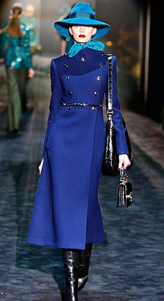 "Gucci_ I've always been ""mad"" for this color combo of lapis and turq"