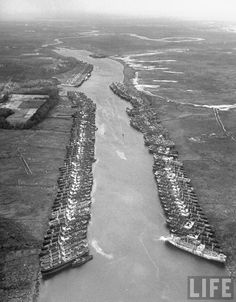 Liberty ships, Italy, 1948 Some were built in Superior, Wi.  I saw the Dioe quintuplets launch one.