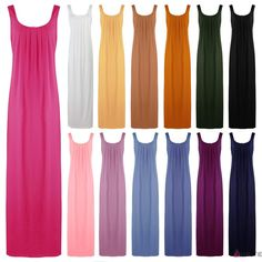 NEW WOMENS NIGHTSHIRT LADIES SLEEVELESS COTTON NIGHTY NIGHTDRESS 18-22 in Clothes, Shoes & Accessories, Women's Clothing, Lingerie & Nightwear   eBay!
