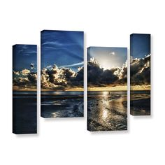 Atlantic Sunrise by Dan Wilson 4 Piece Gallery-Wrapped Canvas Staggered Set