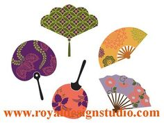 Royal design fan stencil