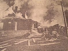 Was a senior at Springville High School in 1969 when the great train derailment happened.  That is the day we lost our landmark depot...seen here, burning.  It was a very scary day. Gas storage tanks next to the track exploded like a bomb going off. That same year, we all had to be evacuated from the school because of a bomb threat.  Never a dull moment....slj  (thanks to Matthew Loggins for this photo--his granddad, Carlos Dixon was the depot agent)