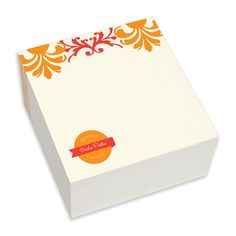 Fall Floral Chunky Note Cubes The Stationery Studio Thanksgiving Contest