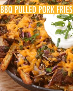 Stop Everything Right Now And Make These BBQ Pulled Pork Fries
