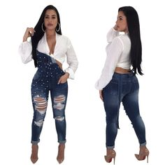 Wholesale Denim Wash Grommet Backless Open Back Jumpsuit at show-lingerie.com  •Denim romper with simple chic details •Looks cool and fashion in this Sexy back straps new design •The quality stretchy fabrication for easy fit •Jumpsuits & Romper for women are popular world widely