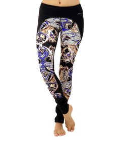 Look at this Blue Dragonfly Contrast Leggings on #zulily today!