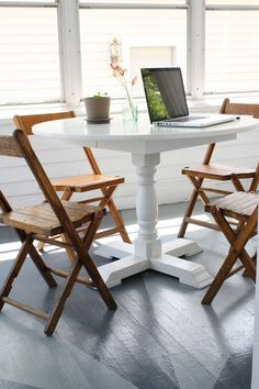 wooden folding chairs ikea vintage wooden desk chair chic round dining table painted in white combined