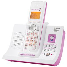Hello Kitty cordless phone. featuring polyvore women's fashion accessories tech accessories hello kitty
