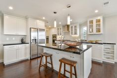 If you're looking to maximize your usable counter space, you might want to install your kitchen sink in an island. Bonus: You're in the center of the action while you're cleaning up or prepping dinner