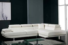 Snowdrop White Corner Leather Sofa Suite. For more details visit www.sofabespoke.co.uk