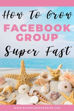 Facebook groups are a great way to grow your sales and business. Big Income Paradise created a list of 30 ways you can grow your Facebook group fast. Create an epic community in your Facebook group and your business will grow. Get the best Facebook group tips and tricks. #BigIncomeParadise #facebookgroups #facebookcommunity #facebookgroup #facebookmarketing