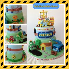 Bob The Builder cake ,please like my pages www.facebook.com/myglorioustreats