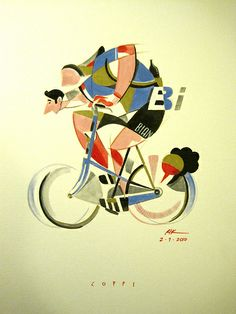W Fausto Coppi by Riccardo Guasco